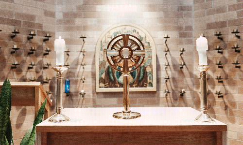 Adoration at Nativity of Mary during COVID-19