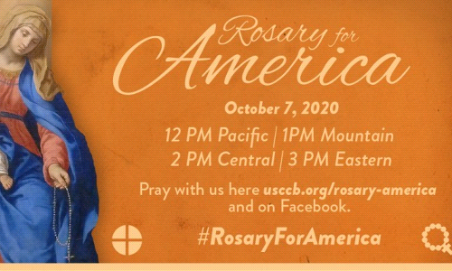 Our Lady of the Rosary - Rosary for America at 2pm!